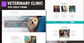 Veterinary Clinic – Divi Child Theme on Divi Cake