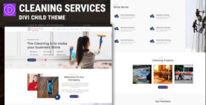 Cleaning Service – Divi Child Theme on Divi Cake