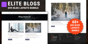 Elite Divi Blog Layouts Bundle on Divi Cake