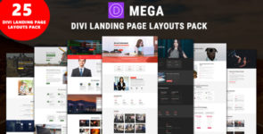 Mega – Divi Landing Page Layouts Bundle on Divi Cake