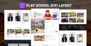 Play School Divi Layout on Divi Cake