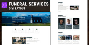 Funeral Service – Divi Layout on Divi Cake