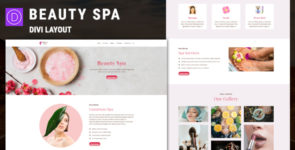 Beauty Spa Divi Layout on Divi Cake