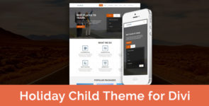 Holiday – Child Theme for Divi on Divi Cake
