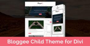Bloggee – Blog Child Theme for Divi on Divi Cake