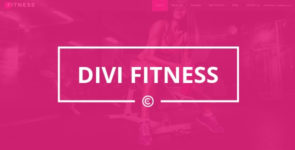 Divi Fitness on Divi Cake