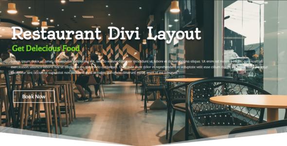 Restaurant DIVI Layout on Divi Cake