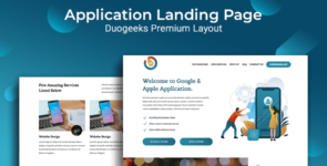Application Landing Page on Divi Cake