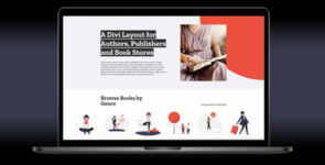 Book Publisher Layout on Divi Cake