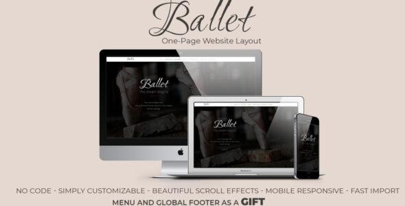 Ballet – Premium One-page Website on Divi Cake