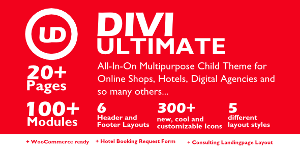 Divi Ultimate All-In-One Premium Child Theme – Unlimited Website Usage on Divi Cake