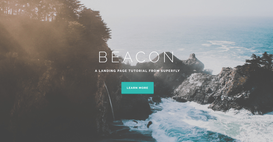 Beacon Divi Landing Page Layout