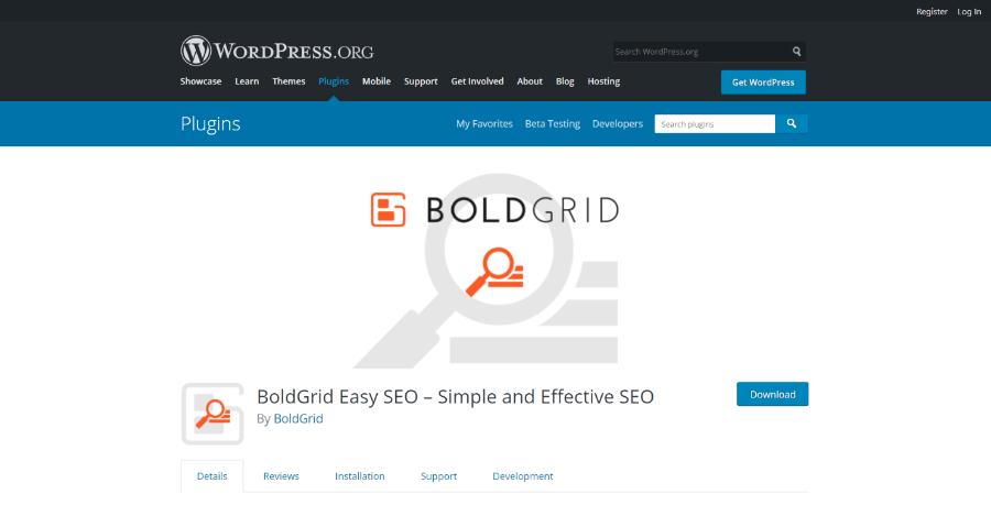 Bold Grid Easy SEO