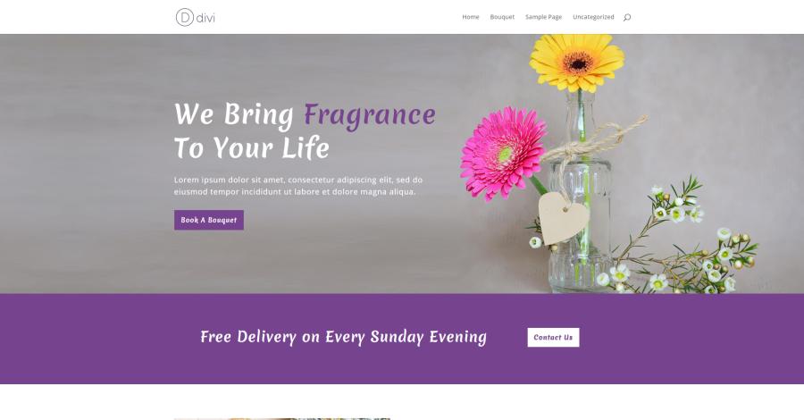Bouquet Shop Divi Layout