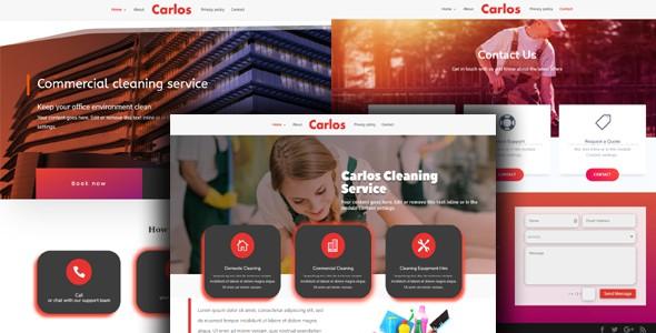 Carlos – services theme on Divi Cake