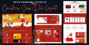 Snowfalling Christmas Divi Layout on Divi Cake