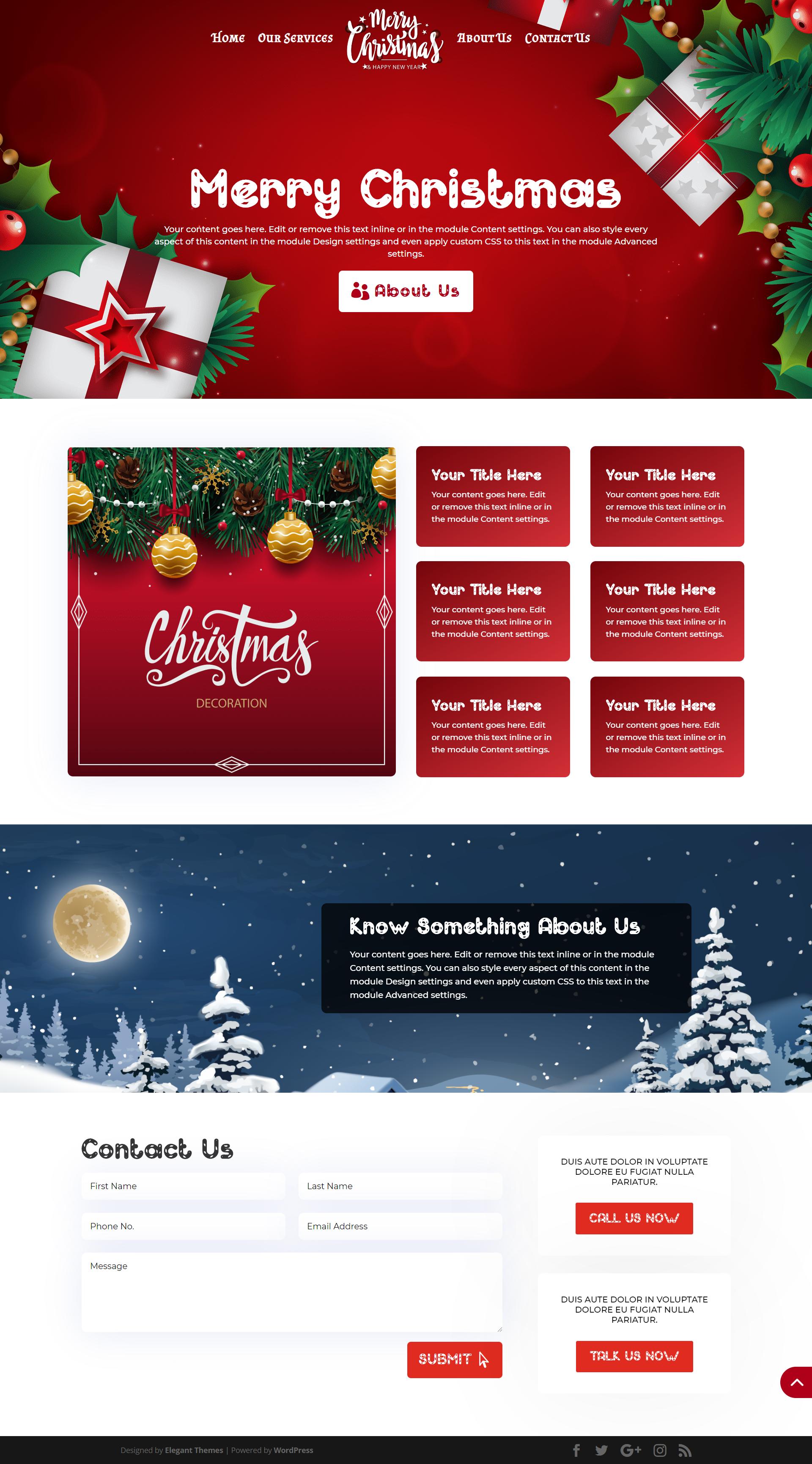 Christmas Full Screen