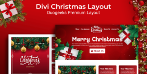 Divi Christmas Layout on Divi Cake
