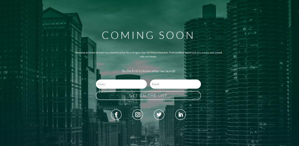 Coming Soon – Landing Page