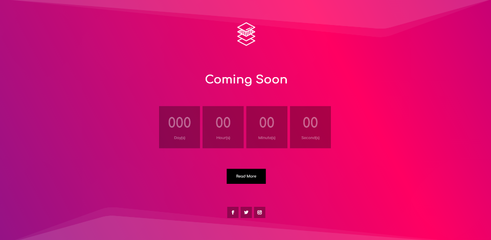 Coming Soon Page With Animated Gradient Background