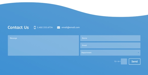 Clean Divi Contact Form on Divi Cake