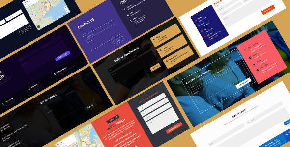 Contact Form Layout Pack on Divi Cake