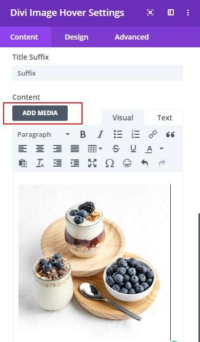 Content Image option