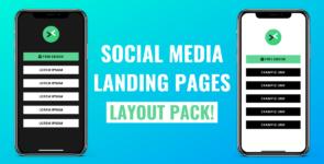 Social Media Landing Page Layout Pack on Divi Cake