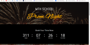 MTH Count Down Page Part 01 on Divi Cake