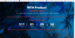 MTH Count Down Page Part 03 on Divi Cake