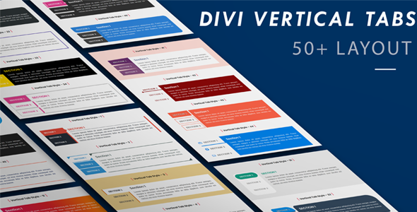 Divi Vertical Tabs Layout Pack (1 to 50 Layout) on Divi Cake