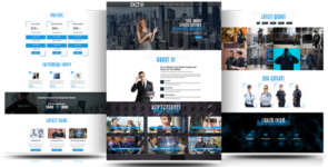 Divi Security Agency One Page Multipurpose Child Theme on Divi Cake