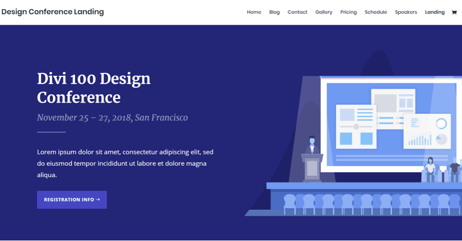 Design Conference Divi Landing Page Layout