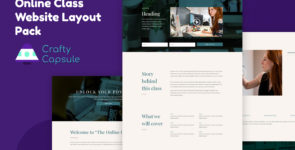 Online Class Website Layout Pack on Divi Cake