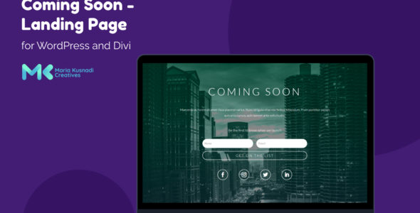 Coming Soon – Landing Page on Divi Cake