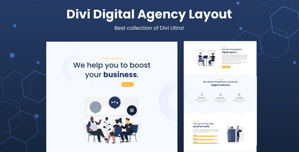 Divi Digital Agency Layout on Divi Cake
