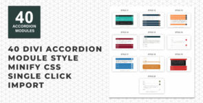 Divi Accordion Layouts Pack on Divi Cake