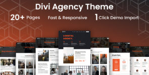 Agency Divi Child Theme on Divi Cake