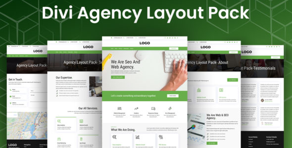 Divi Agency Layout Pack on Divi Cake