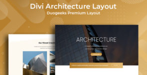 Divi Architecture Layout on Divi Cake