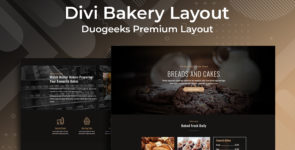 Divi Bakery Layout on Divi Cake