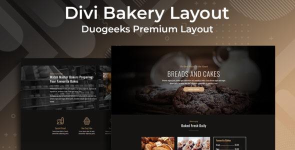 Divi Bakery Layout on Divi Cake