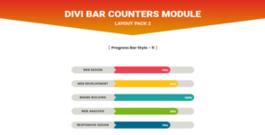 Divi Bar Counters Module Layout Pack 2 on Divi Cake