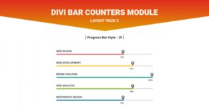 Divi Bar Counters Module Layout Pack 3 on Divi Cake
