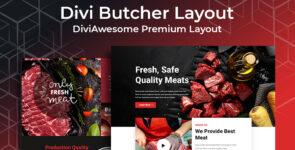 Divi Butcher Layout on Divi Cake