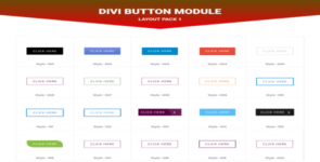 Divi Button Layout Pack 1 on Divi Cake