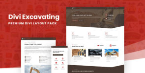 Divi Excavating Layout Pack on Divi Cake