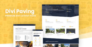 Divi Paving Layout Pack on Divi Cake