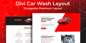 Divi Car Wash Layout on Divi Cake