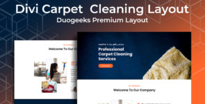 Divi Carpet Cleaning Layout on Divi Cake